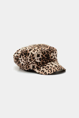 Ardene Leopard Military Cap