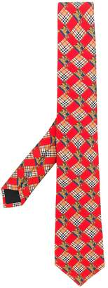 Burberry Modern cut check equestrian knight tie