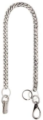 Martine Ali - Cuban Link Silver Tone Wallet Chain - Mens - Silver