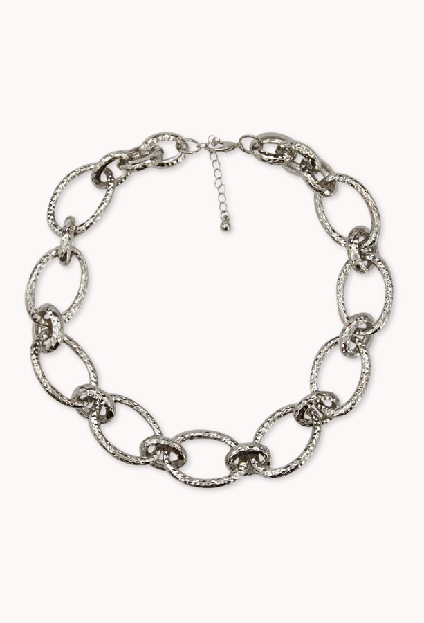 Forever 21 Hammered Metal Rolo Chain