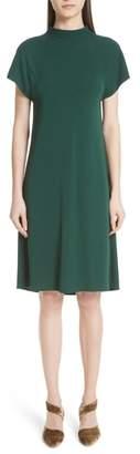 Rosetta Getty Drape Back Crepe Jersey Dress