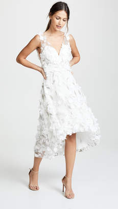 a224b883681 Marchesa High Low Cocktail with Flower Petals