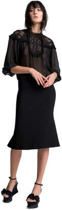 Max Studio pique gusset skirt