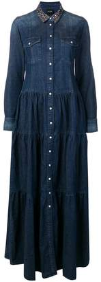 Twin-Set denim shirt maxi dress