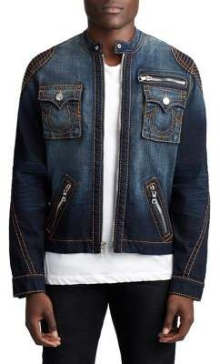True Religion DENIM MOTO JACKET