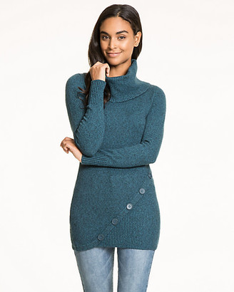 Le Château Cotton Blend Cowl Neck Sweater