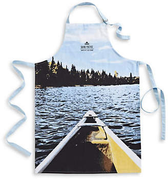 HBC GRAND PORTAGE Canoe Printed Cotton Apron