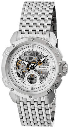Heritor Automatic Conrad Silver Stainless Steel Watches 42mm