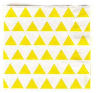My Little Day Paper serviettes with yellow triangles - set of 20