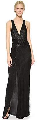 Parker Women's Monarch Surplice Neckline Beaded Dress