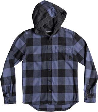 b9de21bb91e9b Quiksilver Motherfly Hooded Flannel Shirt