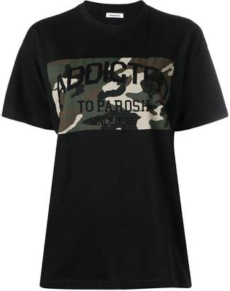 P.A.R.O.S.H. printed camouflage panel T-shirt