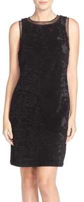 Women's Julia Jordan Velvet & Sequin Sheath Dress $158 thestylecure.com