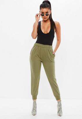 Missguided Khaki Twisted Seam Joggers