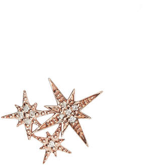 Sydney Evan Triple Starburst Diamond Stud Earring