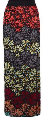 Missoni Metallic Embroidered Crochet-Knit Maxi Skirt