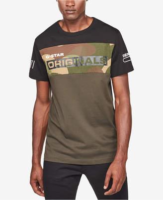 G Star Men Colorblocked Camo T-Shirt