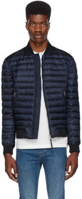 Paul Smith Reversible Navy Down Bomber Jacket