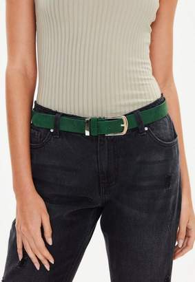 Missguided Green Faux Suede Belt