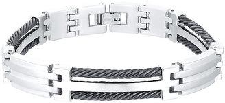 Titanium & Black Cable Bracelet