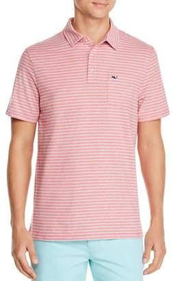 Vineyard Vines Edgartown Triple-Color Striped Knit Polo Shirt