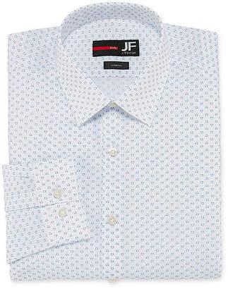Jf J.Ferrar Easy-Care Stretch Big And Tall Long Sleeve Broadcloth Floral Dress Shirt