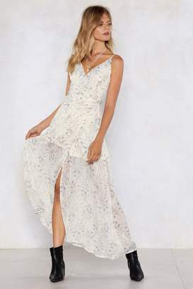 Nasty Gal Split Wrap Floral Maxi Dress