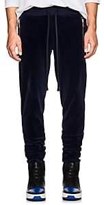 FiveSeventyFive Men's Velour Track Pants - Navy