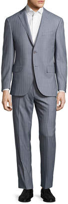 Corneliani Wool Checkered Notch Lapel Suit