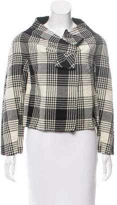 Valentino Virgin Wool Plaid Jacket
