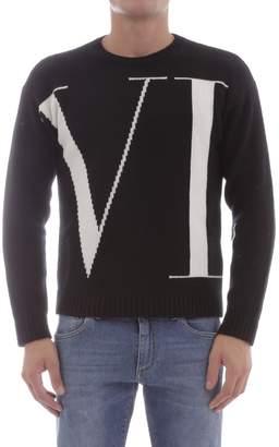 Valentino Pullover In Black Cashemere