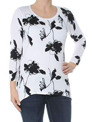 Anne Klein Women's Embellished Asymmetric Poncho Sweater