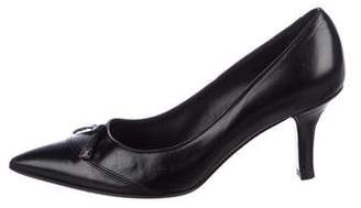 Louis Vuitton Bow Pointed-Toe Pumps