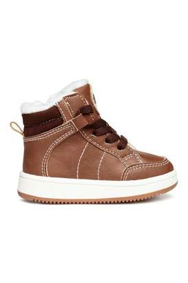 H&M Warm-lined Sneakers - Light brown - Kids