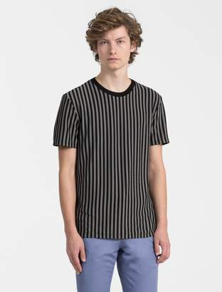 Calvin Klein regular fit vertical stripe t-shirt