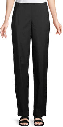 Urban Zen Slim Straight-Leg Stretch-Linen Pants