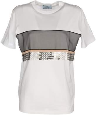 Prada Tshirt Chiffon + Metal Chain