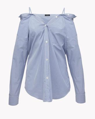 Off-the-Shoulder Striped Shirt $265 thestylecure.com