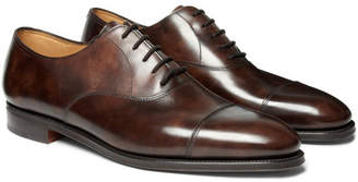 John Lobb City II Burnished-Leather Oxford Shoes - Men - Brown