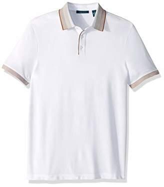 Perry Ellis Men's Ombre Collar Short Sleeve Polo Shirt