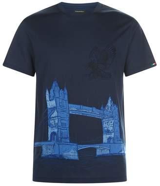 Stefano Ricci Tower Bridge Embroidery T-Shirt