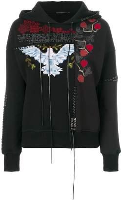 Alexander McQueen embroidered hoodie