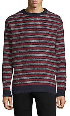 Sunspel Men's Fair Isle Wool Crewneck Sweater