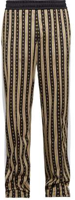 Versace Medusa Print Side Striped Track Pants - Mens - Brown