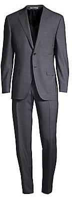 Canali Men's Single-Breasted Wool Windowpane Suit