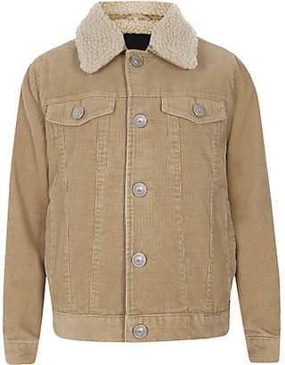 River Island Boys light brown cord trucker jacket