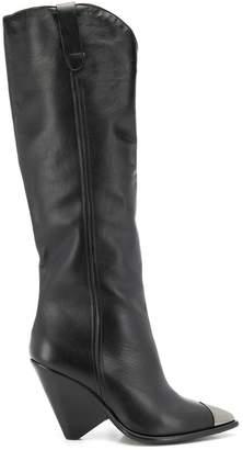 The Seller toe cap boots