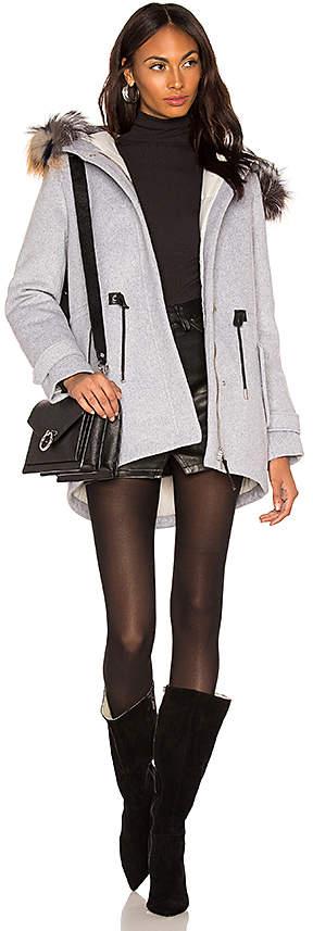 Alexa Jacket With Fur Collar