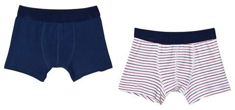 Navy and Stripe Boxers Set