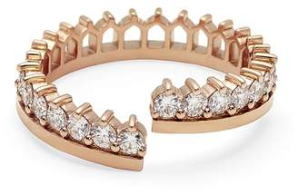 Nouvel Heritage Simple Full Diamond Lace Ring - Rose Gold